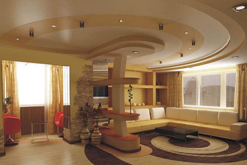 фото дизайна отделки натяжных потолков